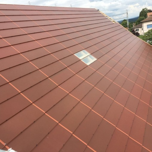 SolarTerra - Terracotta colored solar BIPV roof