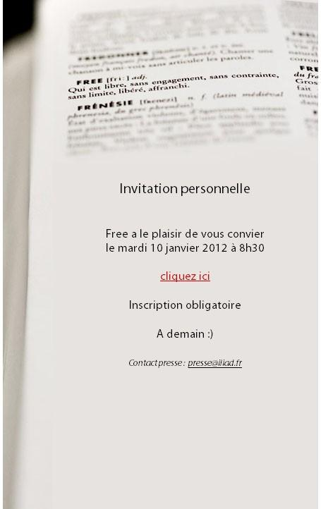 invitation conférence presse free mobile