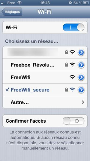 Se connecter a free wifi secure iphone
