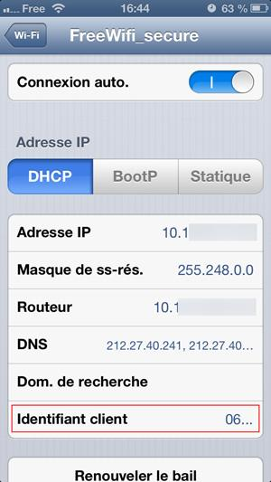 free wifi secure iphone ne fonctionne pas