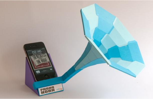 Blog_Paper_Toy_papercraft_Phono_Horn_Rob_Ives_pic1