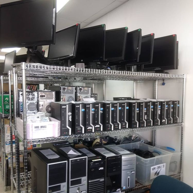 computers on store shelves