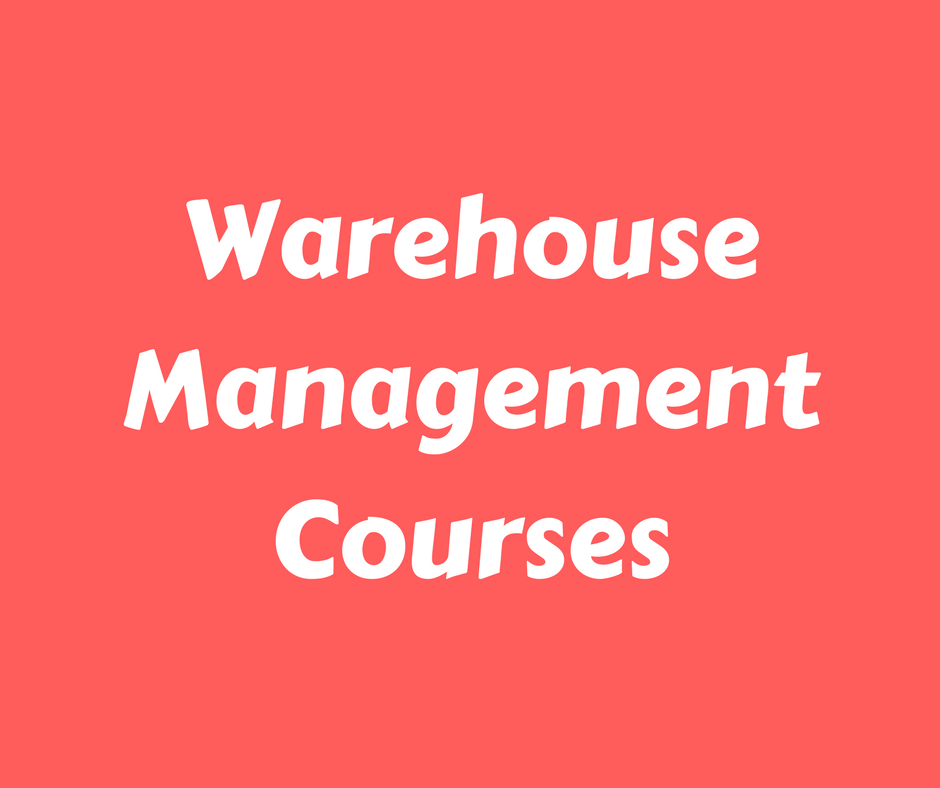 Free Warehouse Management Courses
