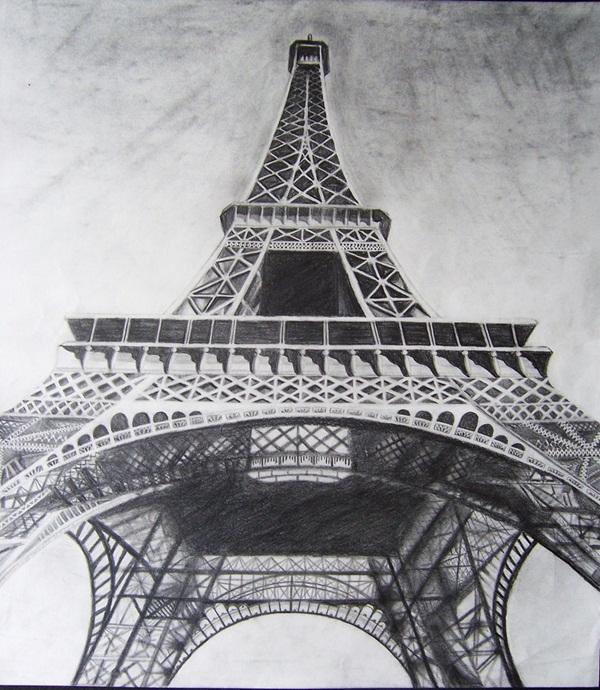Eiffel Tower Drawings