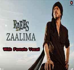 Zalima With Female Free Karaoke