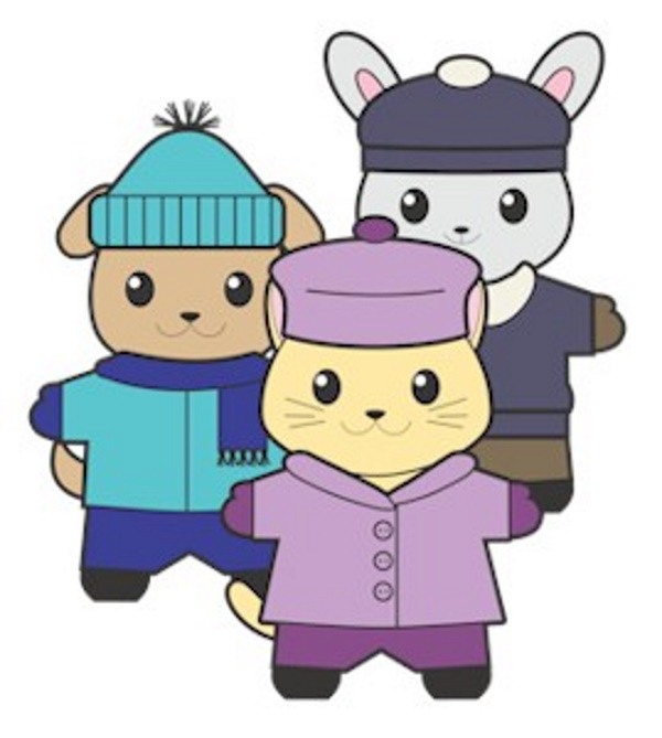 Winter Buddies Paper Dolls