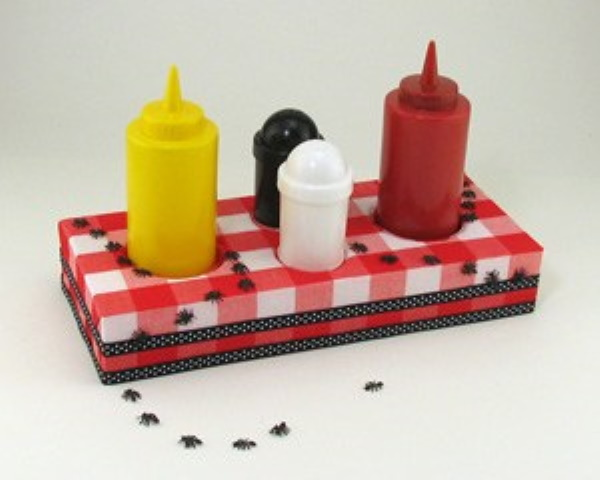 DIY Picnic Caddy for BBQ Condiments