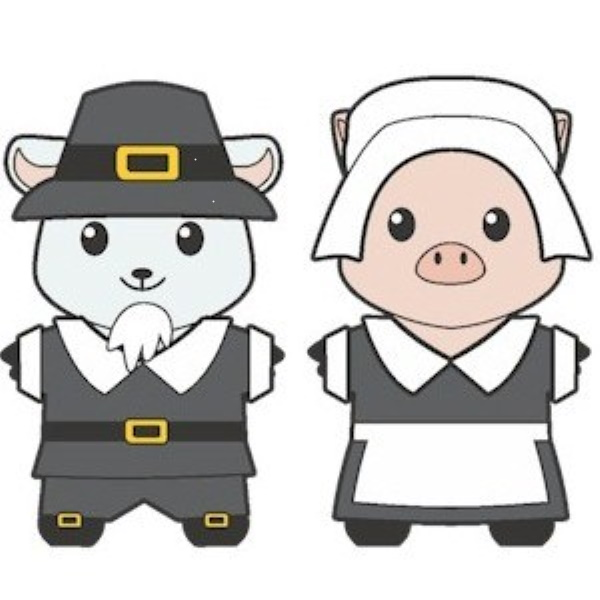 Printable Thanksgiving Pilgrim Buddies Paper Dolls