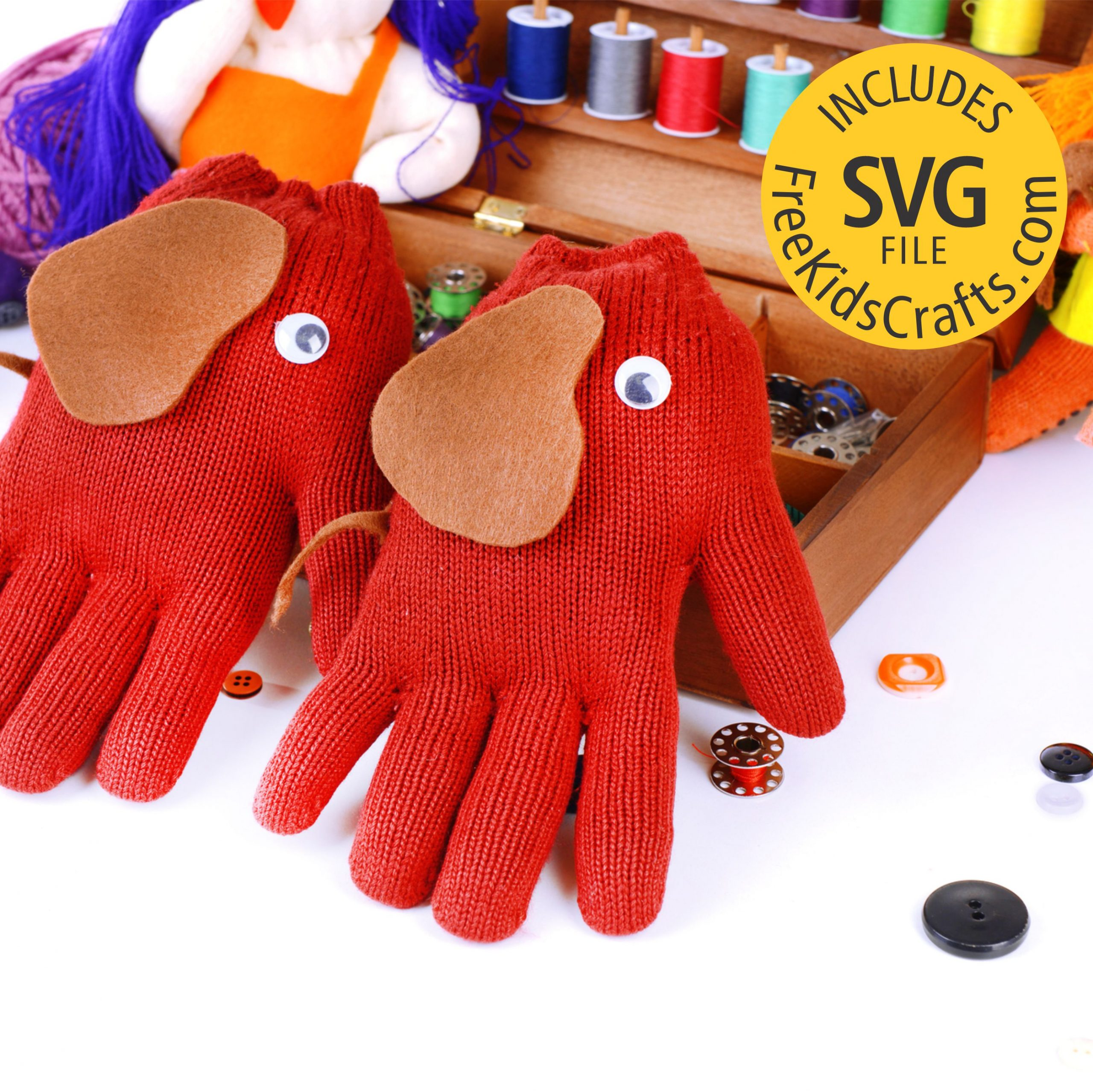 Easy Elephant Gloves for Pre School Play