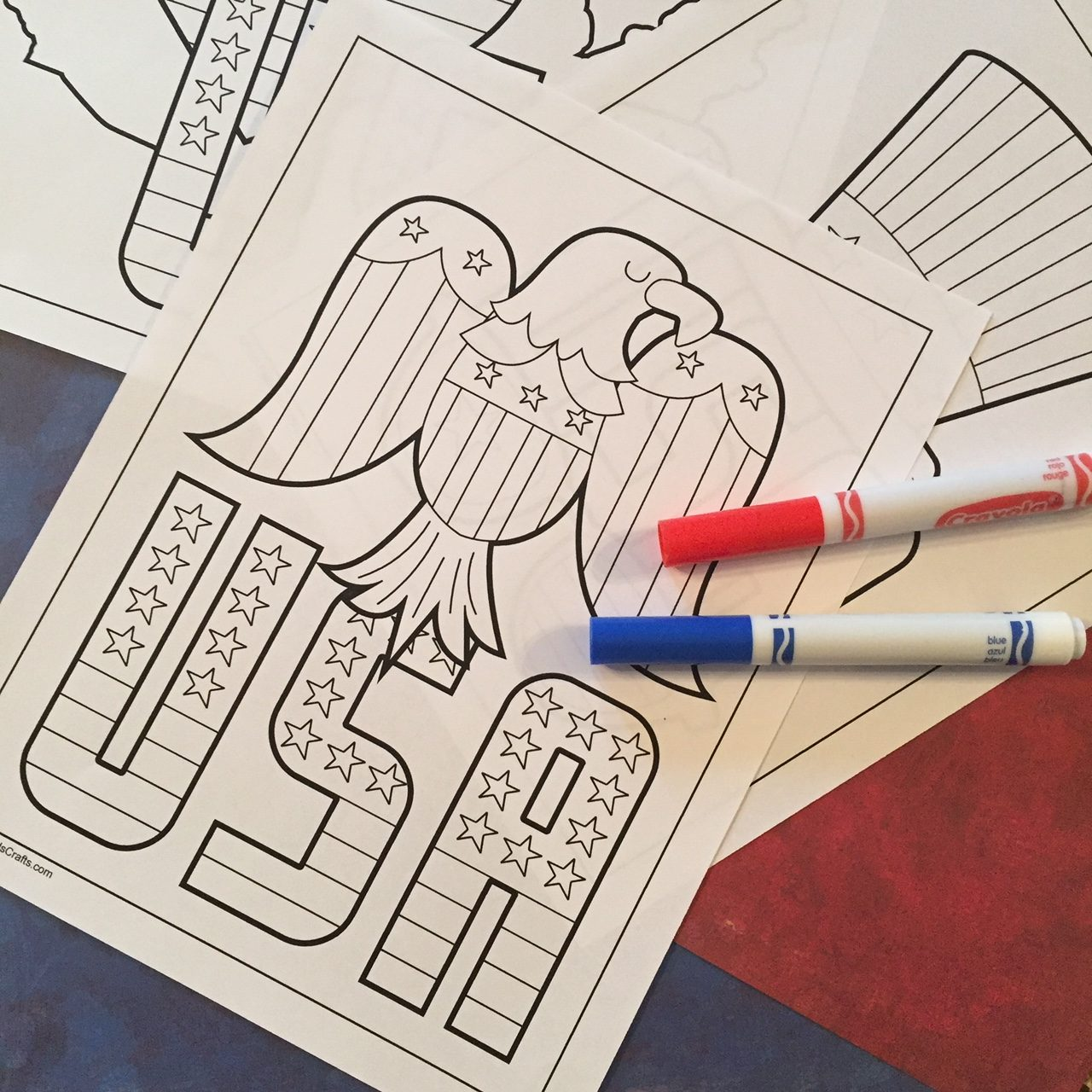 Printable Patriotic Coloring Pages for Young Children