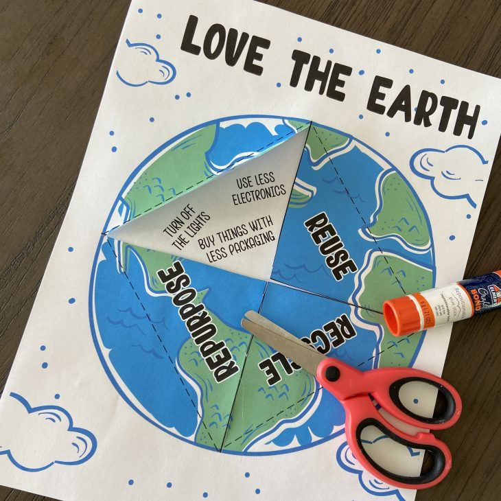 Printable Earth Day Love the Earth Activity