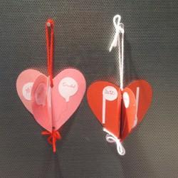 3-D Hearts