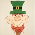 Image of Printable Leprechaun Buddies Paper Dolls