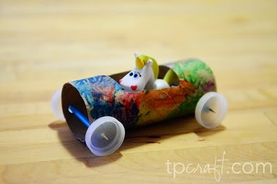 Cardboard Tube Race Car