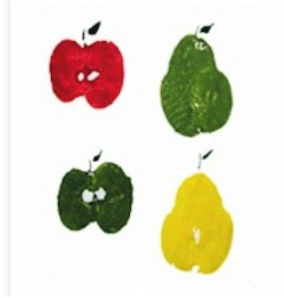 Making Prints with Fruit