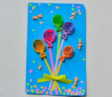 Quilled Balloon Card
