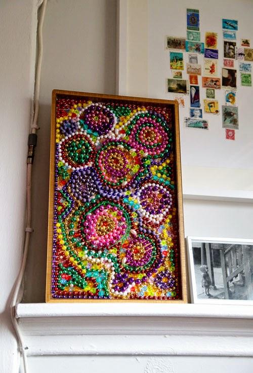 Bead Mosaic for Mardi Gras