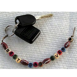 Image of Best Dad Ever Beaded Key Chain