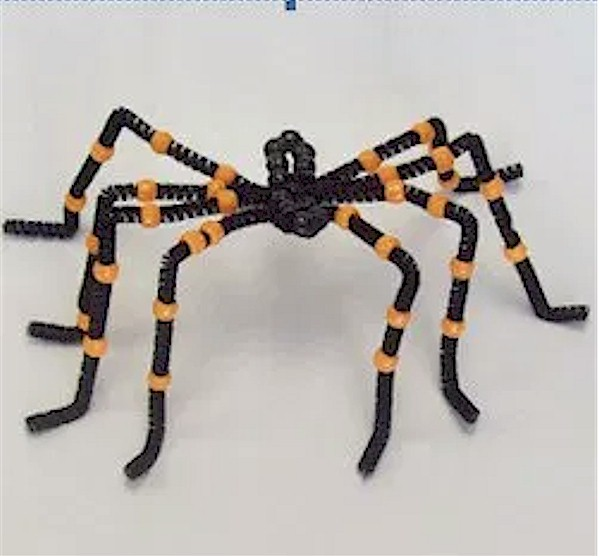 Image of Beaded Halloween Spider Pattern