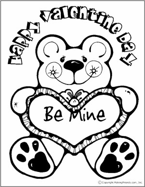 Image of 8 Valentines Day Coloring Pages