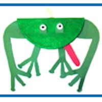 Image of Big Mouth Paper Plate Frog