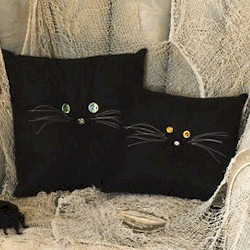 Image of Black Cat Pillows