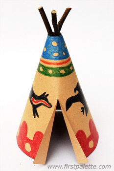 Image of Blackfoot Paper Teepee