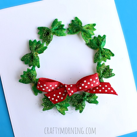 Noodle Christmas Wreath