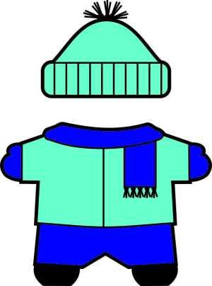 winter Buddies paper doll scarf