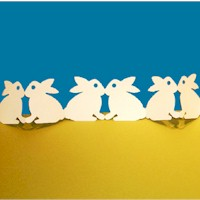 Image of Paper Bunny Chain