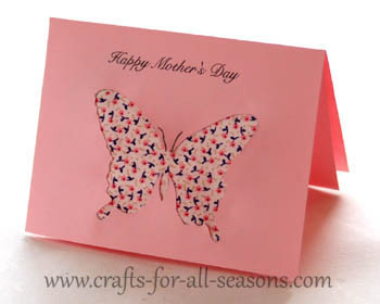 Image of Printable Butterfly Mothers Day Card