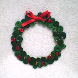 Image of Button Wreath