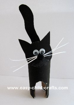 Cardboard Tube Black Cat