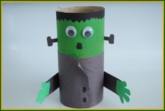 Image of Cardboard Tube Frankenstein