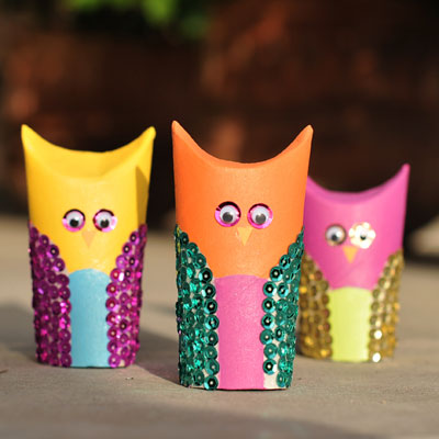 Image of Cardboard Tube Owls
