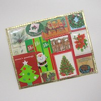 Image of Recycled Christmas Card Placemats