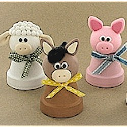 Clay Pot Farm Animals