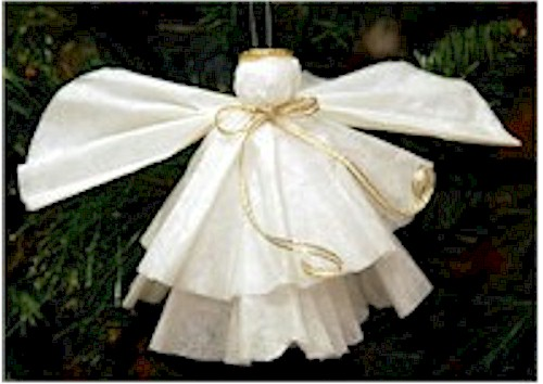 Easy Angel Craft from Coffee Filters