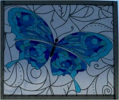 Image of Coloring Book Faux Stained Glass