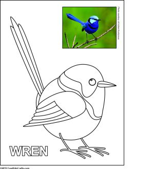 Image of Printable Bird Coloring Pages