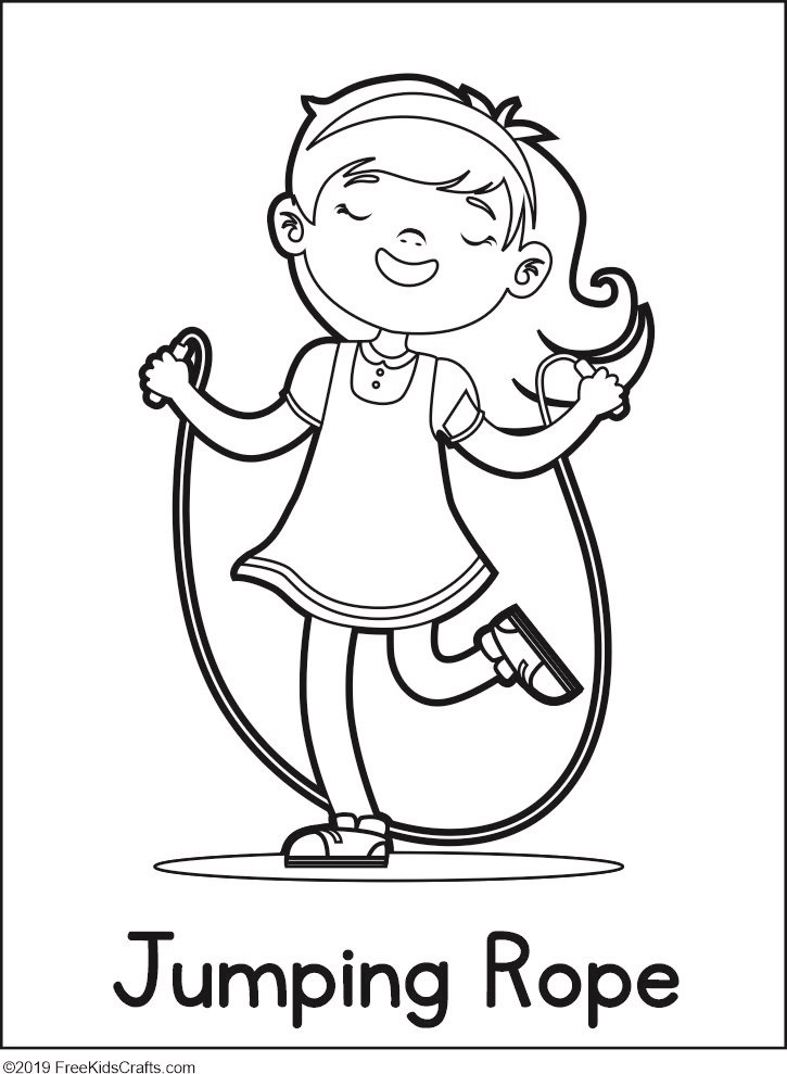 Physical Activity Coloring Pages