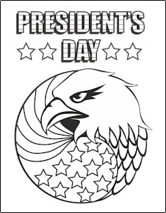 President's Day Coloring Pagee
