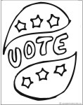 Vote coloring pages