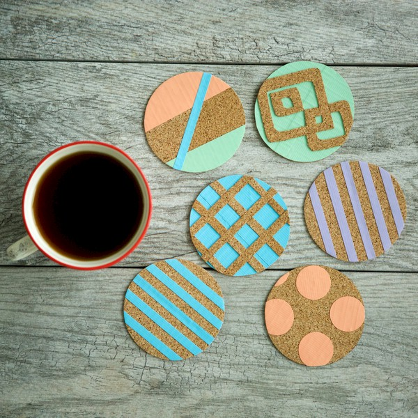 Cork Tape Coasters
