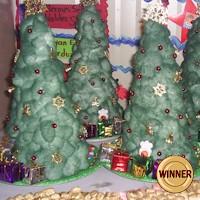 Image of Cotton Ball Christmas Tree