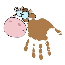 Image of Cow Handprint