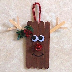 Craftstick Reindeer Ornament