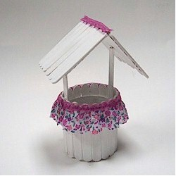 Craftstick Wishing Well