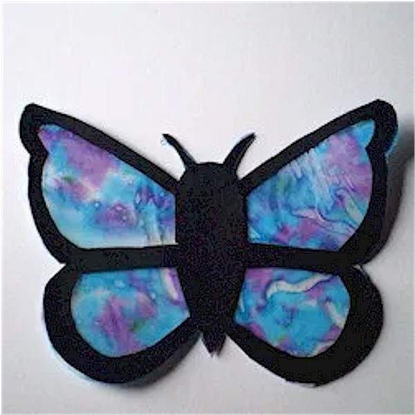 Image of Crayon Butterfly Sun Catcher