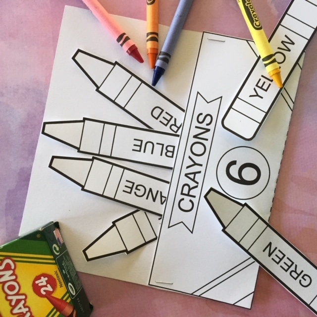 Back to School Crayon Coloring and Activity Page